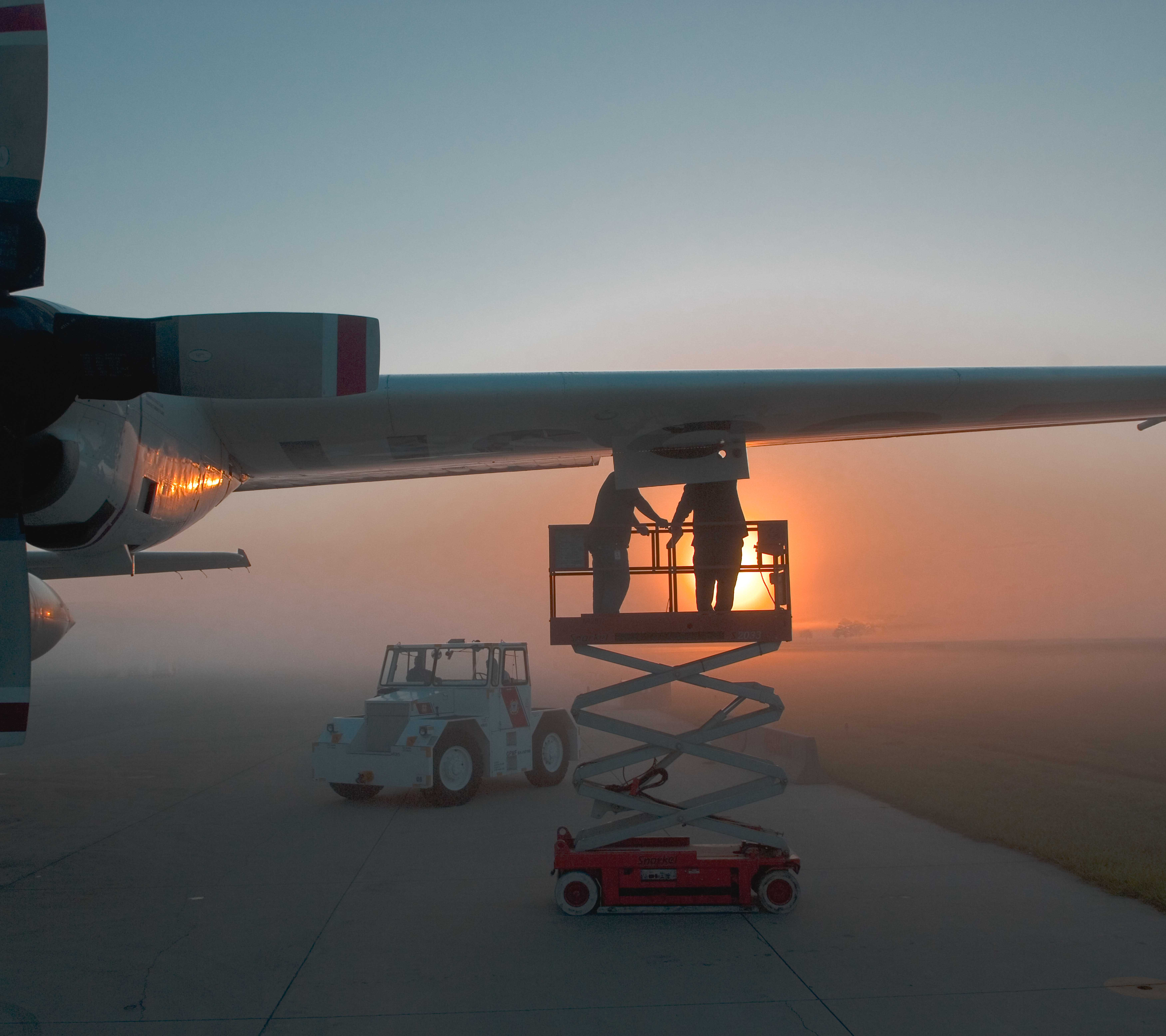 C130 in fog- Coast Guard  Photo by Dave Silva